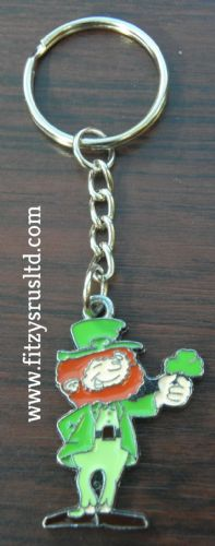 Irish Leprechaun Keyring Ireland Eire Gaelic Key Ring St Patricks Day Gift